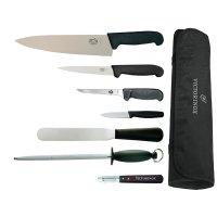 7-teiliges Messerset von Victorinox, Hygiplas und Vogue mit 25cm Kochmesser