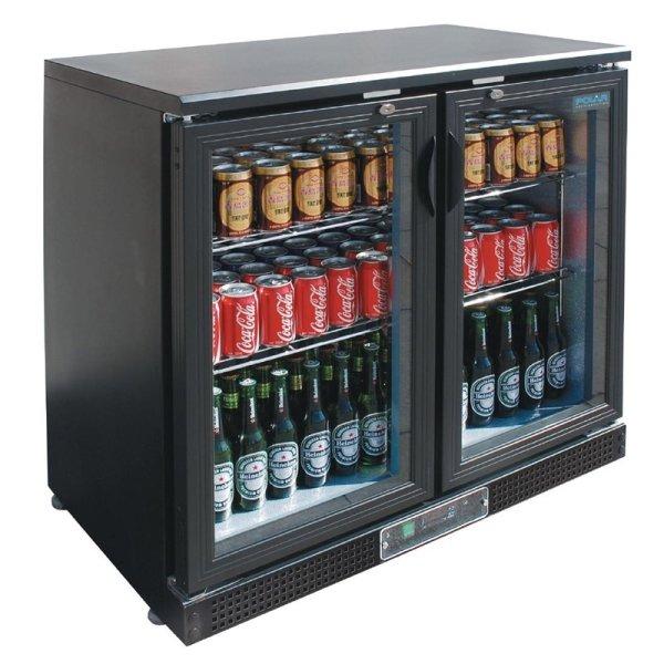 Polar Serie G Barkühlschrank mit Klapptüren 160 Flaschen