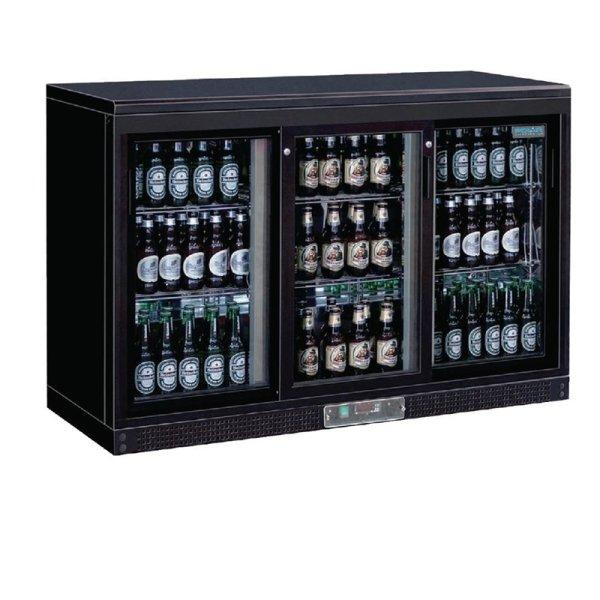 Polar Serie G Barkühlschrank mit 3 Schiebetüren 273 Flaschen