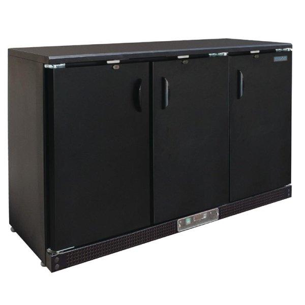 Polar Serie G Barkühlschrank 3 Klapptüren schwarz, 335L