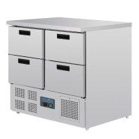 Polar Serie G Kühltisch mit 4 Schubladen 240L