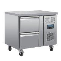 Polar Serie U GN-Kühltisch mit 2 Schubladen 124L