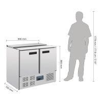 Polar Serie G gekühlte Saladette 240 Liter