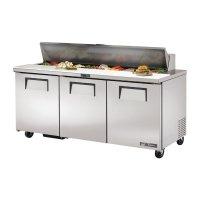 True Zubereitungskühltisch 3-türig 538L