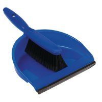Jantex Kehrset mit weichen Borsten blau