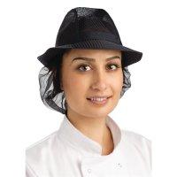 Trilby Hut mit Haarnetz dunkelblau Größe S