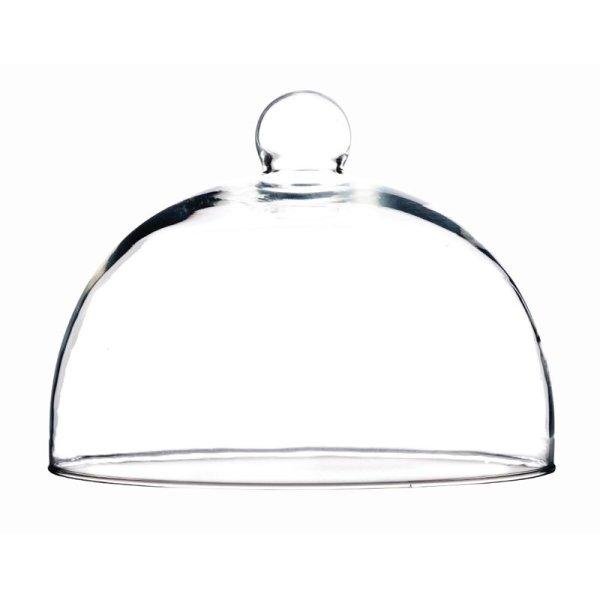 Speiseglocke aus Glas 21cm