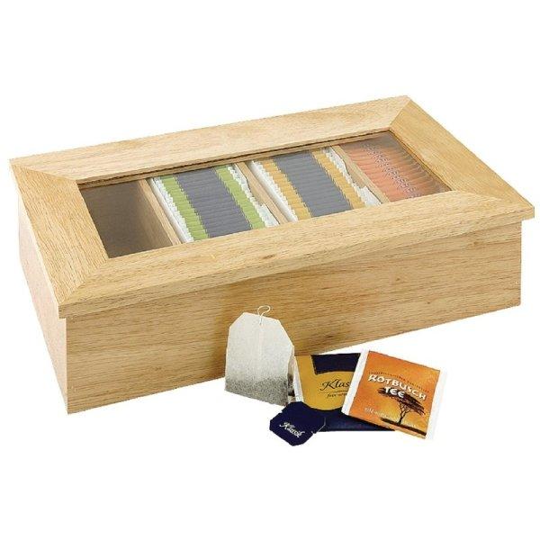 Olympia Teebox aus Gummibaumholz