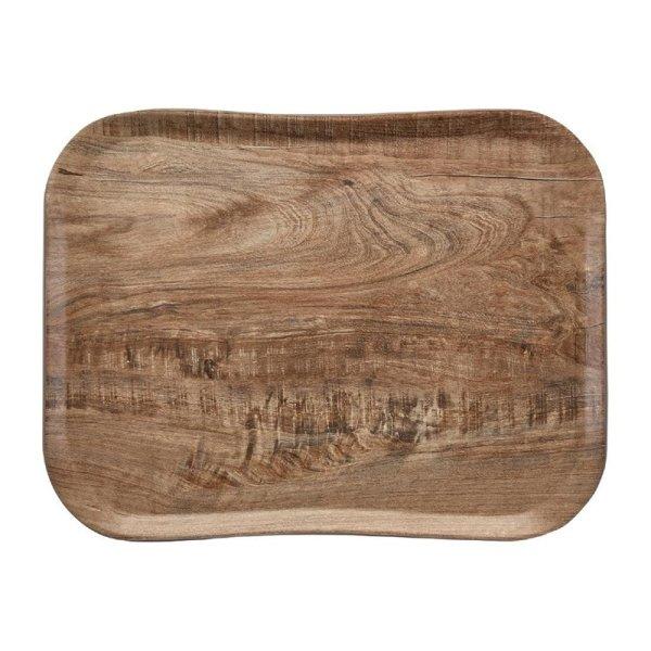Cambro Century Tablett helles Olivenholz Design 33 x 43 cm