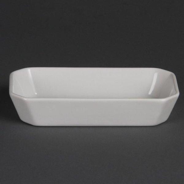 Olympia Whiteware rechteckige Snackschalen 18,5cm (6 Stück)