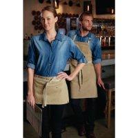 Chef Works Urban Austin Denim Latzschürze beige