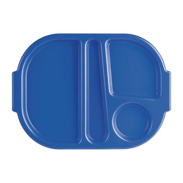 Kristallon Kleines Menütablett aus Polycarbonat blau 32,2cm