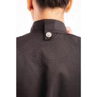 Chef Works Springfield Kurzärmelige Reißverschlusskochjacke Damen schwarz S