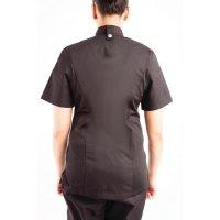 Chef Works Springfield Kurzärmelige Reißverschlusskochjacke Damen schwarz XL