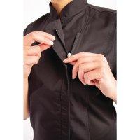 Chef Works Springfield Kurzärmelige Reißverschlusskochjacke Damen schwarz XS