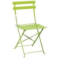 Bolero klappbare Terrassenstühle Stahl hellgrün (2 Stück)