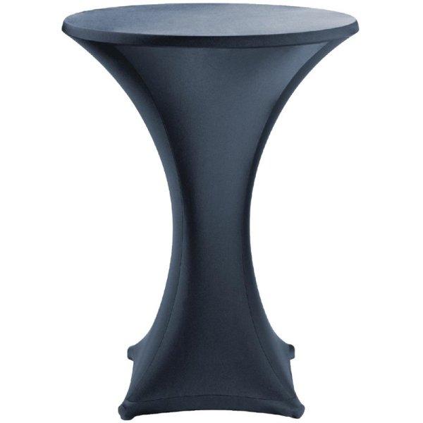 Tischhusse für Stehtische Jersey schwarz 80cm