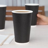Fiesta To Go Kaffeebecher Wellpappe schwarz 45,5cl