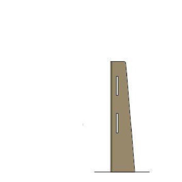 Bolero Easy Screen Eckpfosten für Trennwand helle Eiche 86 x 20cm