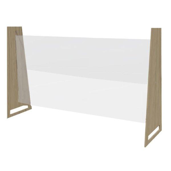 Bolero Easy Screen Tischmodell Trennwand helle Eiche 86 x 75cm