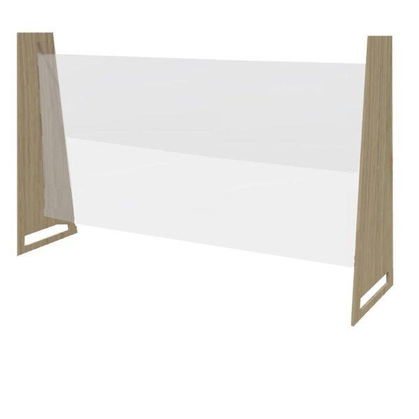 Bolero Easy Screen Tischmodell Trennwand helle Eiche 86 x 125cm