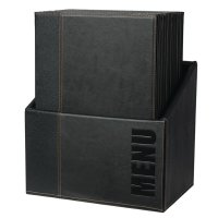 Securit Moderne Menümappen und Aufbewahrungsbox A4 schwarz