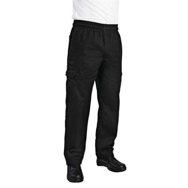 Chef Works Unisex Cargohose Slim Fit schwarz XL