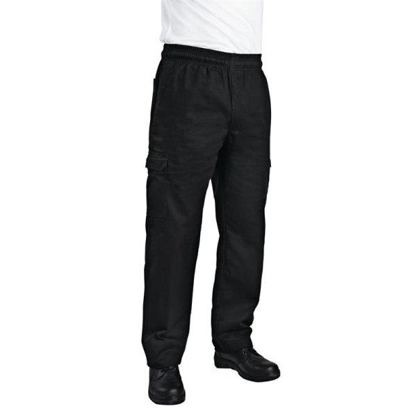 Chef Works Unisex Cargohose Slim Fit schwarz XXL