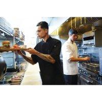 Chef Works Montreal Kochjacke kurze Ärmel schwarz XS