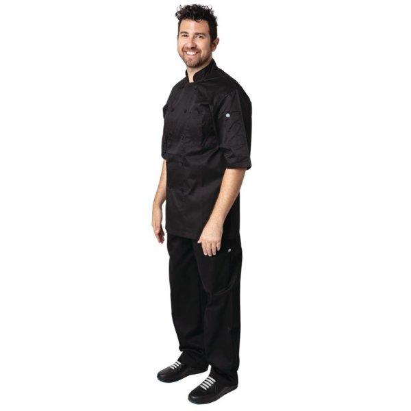 Chef Works Montreal Kochjacke kurze Ärmel schwarz L
