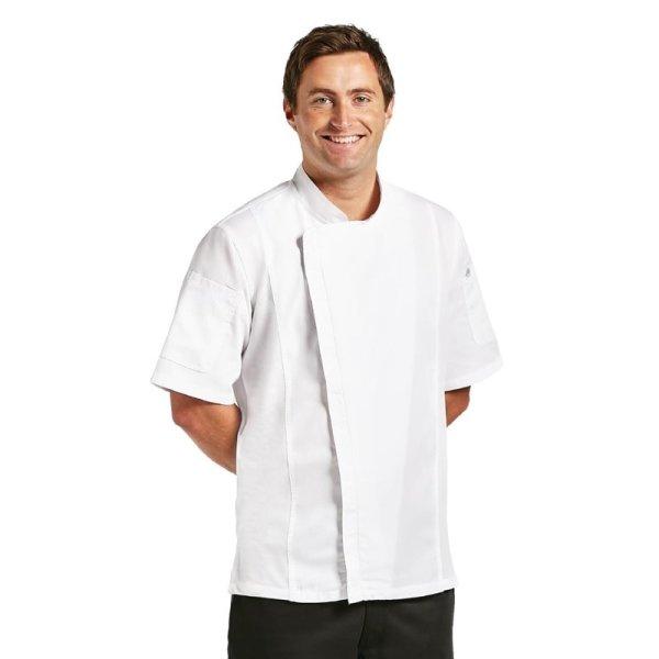 Chef Works Springfield Herrenkochjacke kurze Ärmel weiß L