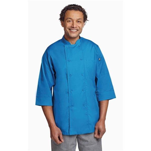 Chef Works Unisex Kochjacke blau S