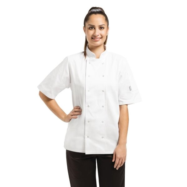 Whites Vegas Kochjacke kurze Ärmel weiß XL