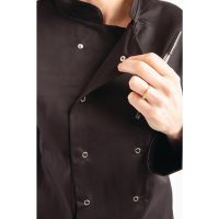 Whites Vegas Kochjacke lange Ärmel schwarz XL