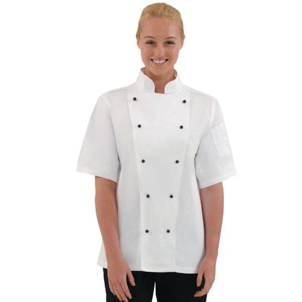 Whites Chicago Kochjacke kurze Ärmel weiß XL