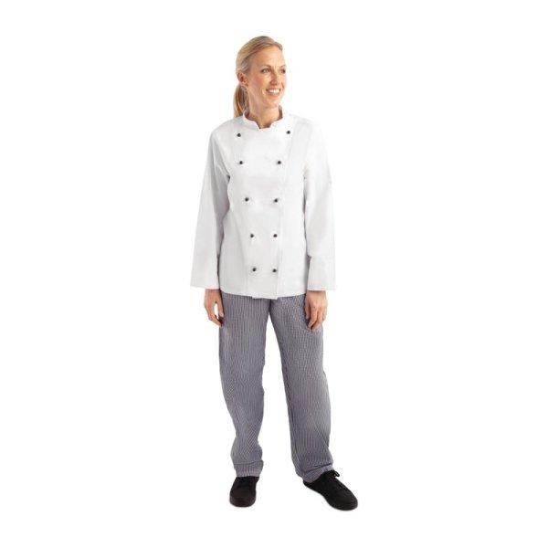 Whites Chicago Kochjacke lange Ärmel weiß XL