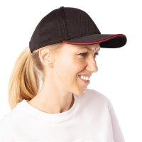 Chef Works Cool Vent Baseballcap schwarz-rot