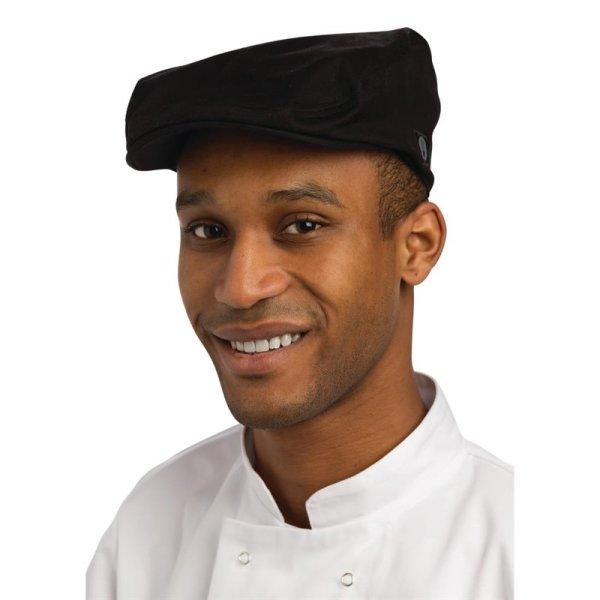 Chef Works Flache Kappe schwarz L