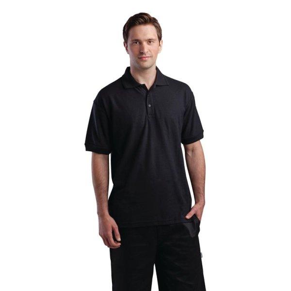 Unisex Poloshirt schwarz M