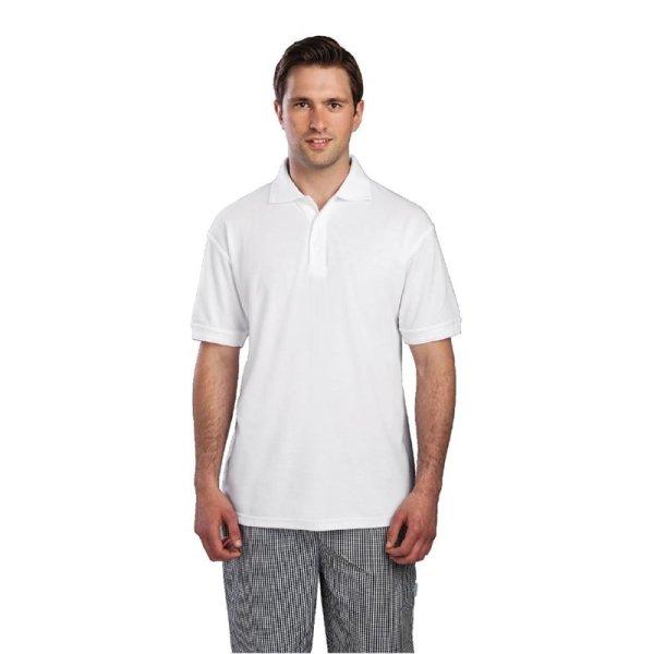 Unisex Poloshirt weiß XL