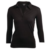 Chef Works Damen T-Shirt mit V-Ausschnitt schwarz XS
