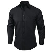 Uniform Works Unisex Oberhemd schwarz L