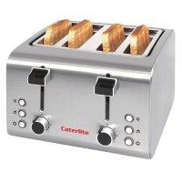 Caterlite 4-Schlitz Toaster Edelstahl